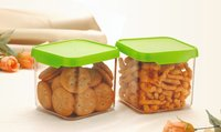 Nirlon Square Container Set Of 2 ABS Plastic  550 ml Food,Container