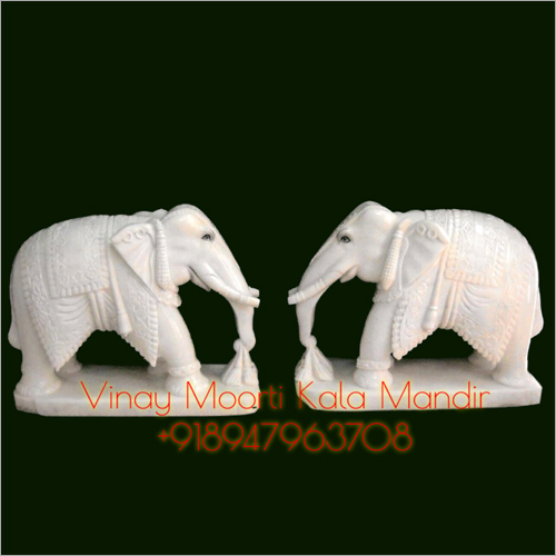 Outdoor Marble Elephant Statue
