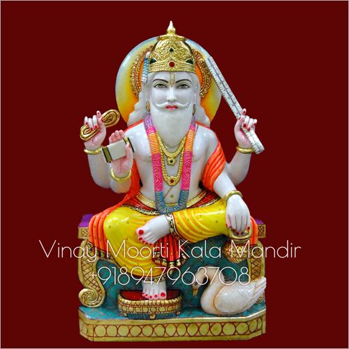 Vishwakarma Multicolor Marble Statue