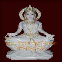 Gayatri White Marble Statue