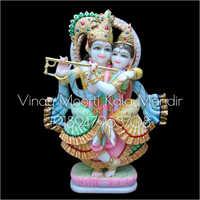 Multicolor Jugal Jodi Radha Krishna Statue