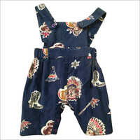 Baby Cord Printed Romper Suit