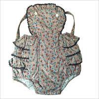 Printed Poplin Babies Romper Suit