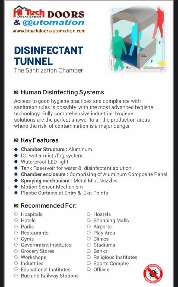 Sensor Base Sanitizer Tunnel