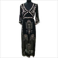 Ladies Embroidery One Piece Dress
