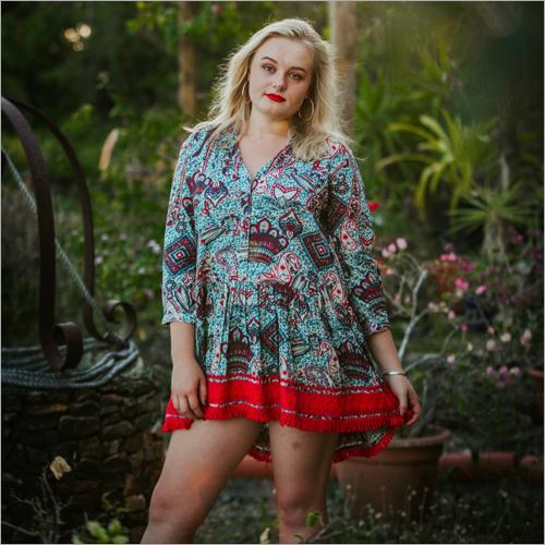 Ladies Floral Print Tunic Top