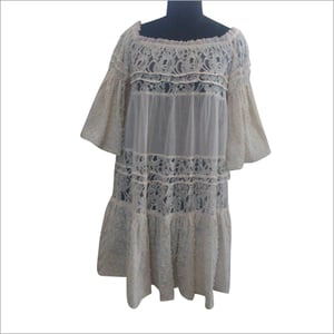Cotton Voile with Lace Tunic