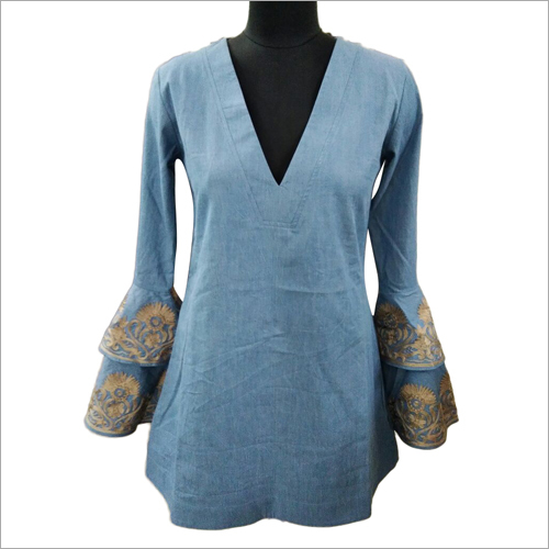 Ladies Bell Sleeve Tunic Top