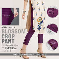 Wild Berry Blossom Crop Pant