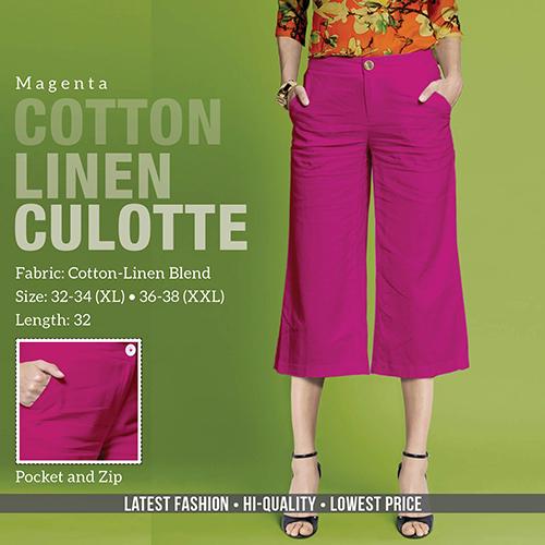 Mergenta Cotton Line Trouser