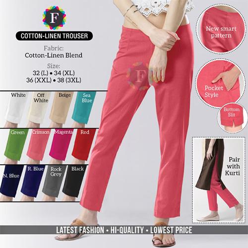 Cotton Line Trouser
