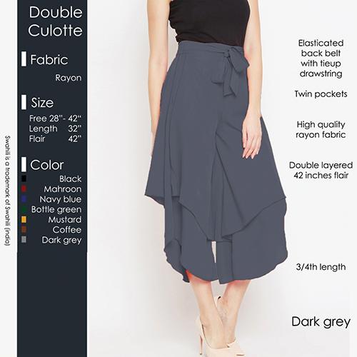 Grey Double Culotte