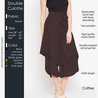 Brown Double Culotte
