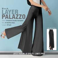 Black Layerd Plazzo