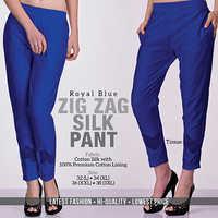 Blue Silk Pant