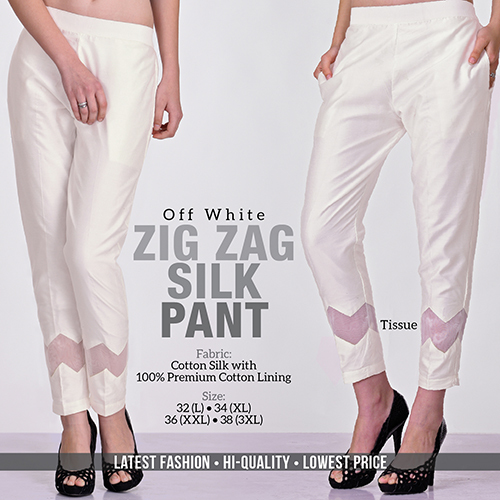 Off White Silk Pant