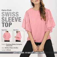 Swiss Pink Swiss Top