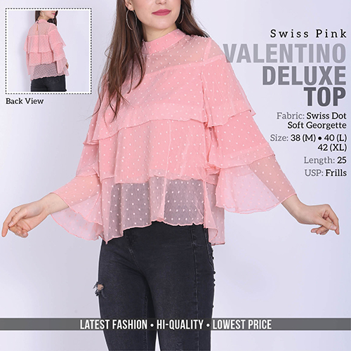 Pink Valention Swiss Top