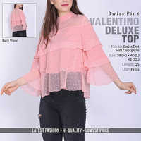 Pink Valention Swiss Top