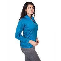 Blue Women Winter Jacket