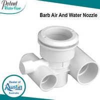 White ABS Barb Air and Water Nozzle