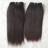 100% Human Hair Extensions Natural Color Straight  hair