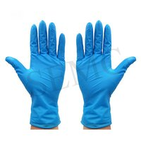 Surgical Hand Gloves Blue Color