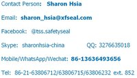 High Quality Bolt Seal ISO 17712 Certified High Security Container Seal Model No. NEW TSS-BST01 (xfseal)