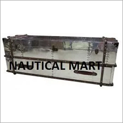 Vintage Mayfair Double Drawer Aluminium Trunk