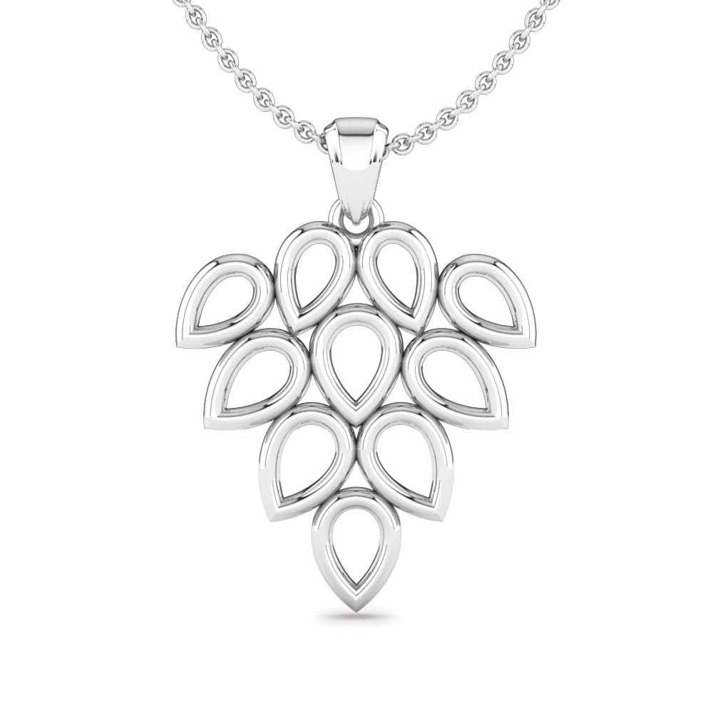 Plain Silver Pendants