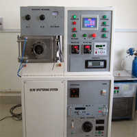D Type RF-DC magnetron sputtering system With electrical control panel