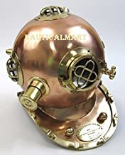 NauticalMart Solid Brass & Copper Mark V Dive Helmet