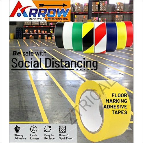 Yellow Floor Marking Tape 25mtr