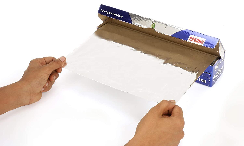 Freshee 225000sqcm Aluminium Silver Kitchen Foil Roll Paper