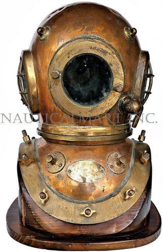 NAUTICALMART Siebe Gorman 12 Bolt Dive Helmet CA 1950's