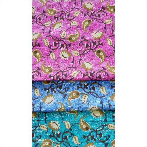 Designer Leaf Printed Cotton Suit Fabric
