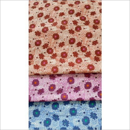 Flower Print Cotton Suit Fabric