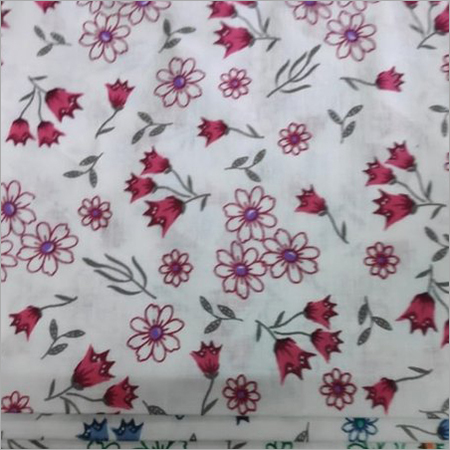 Flower Printed Cotton Fabric