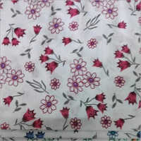 Flower Printed Cotton Fabric