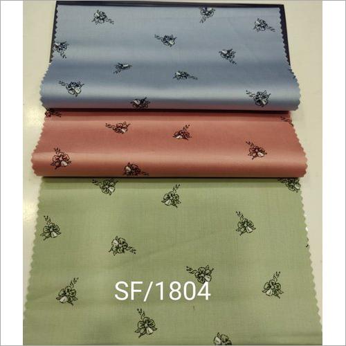 Satin Printed Shirting Fabric