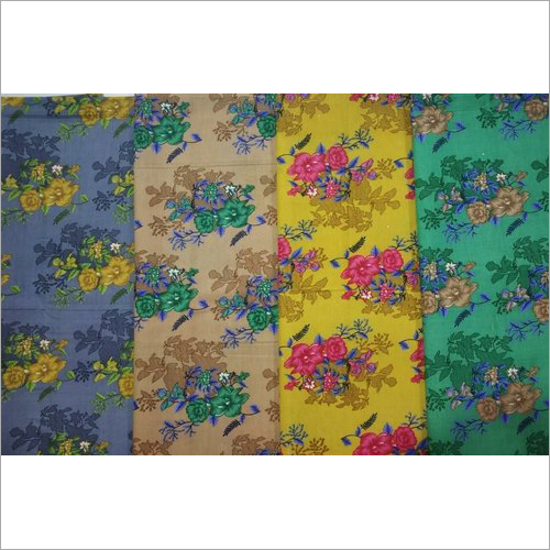 Dull Cotton Printed Nighty Fabric