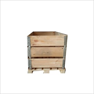 Wooden Box With Pallet Collars