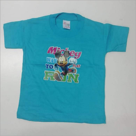 Kids Round Neck Casual T Shirt
