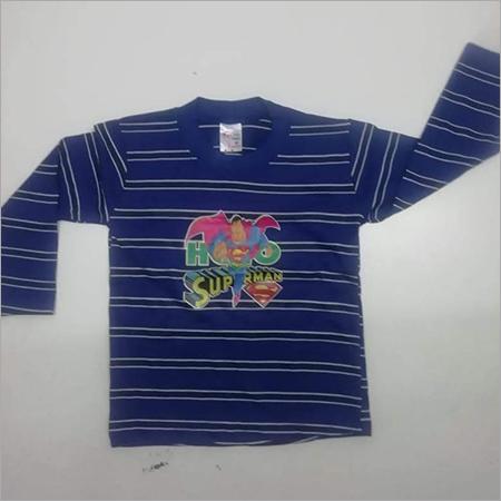 Kids Full Sleeves Striped T Shirt