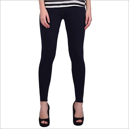 Black Color Cotton Leggings