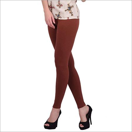 Brown Color Cotton Leggings