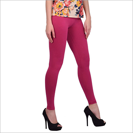 Pink Color Cotton Leggings