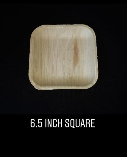 6.5 Inch Square Areca Plate