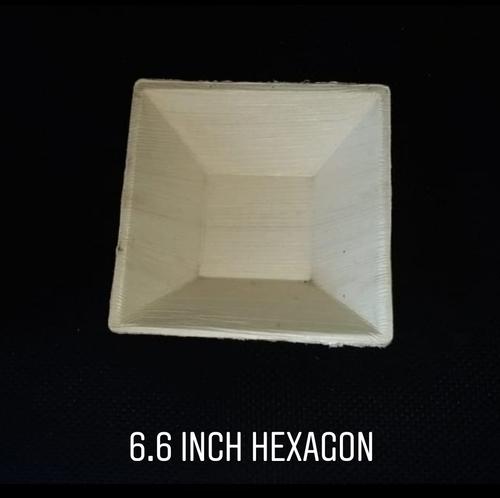6.6 Inch Hexagon Areca Bowl