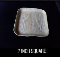 7 Inch Square Areca Plate